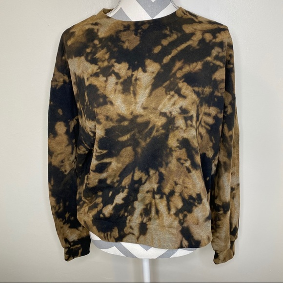WILD FABLE | Cropped Bleached Black Sweatshirt XL